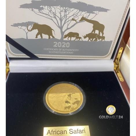 5 Unzen Gold African Safari Elefant PP
