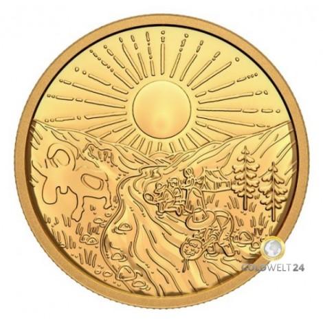 1 Unze Gold 125 Jahre Klondike Goldrausch 2021 PP