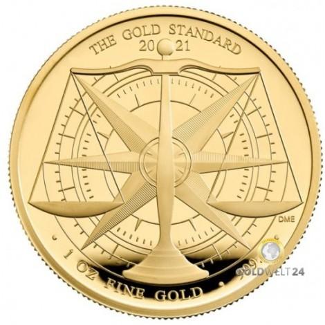 1 Unze Gold Goldstandard 2021 PP