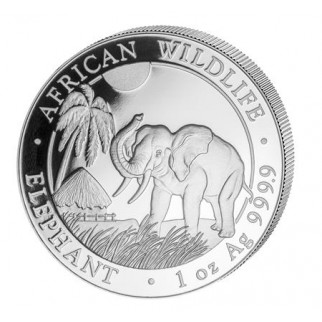 10 Unzen Silber Somalia Elefant 2017
