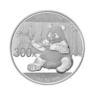1 kg Silber China Panda 2017 (Polierte Platte)