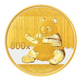 50g Gold China Panda 2017 PP (inkl. Box und Zertifikat)
