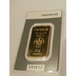 20 Gramm Goldbarren div.