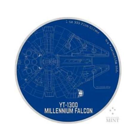 1 Unze 2 NZD Star Wars Millennium Falcon 2017