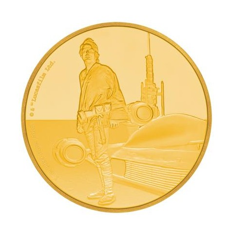 1 Unze Gold 2 NZD Star Wars Luke Skywalker