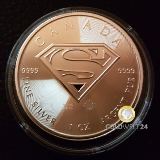 1 Unze Silber Superman 2016