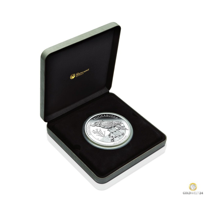 1kg Silber Kookaburra 2016 Pp Inkl Etui Auflage 500
