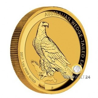 1 Unze Gold Wedge Tailed Eagle 2017 High Relief PP