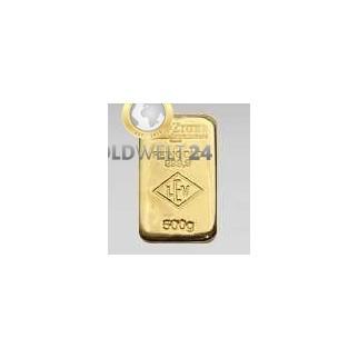 500g Goldbarren LEV