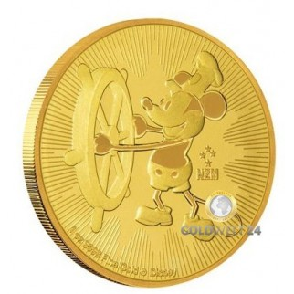 1 Unze Gold 250 Niue-Dollar Steamboat Willie 2017