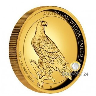 1 Unze Gold Wedge Tailed Eagle 2016 High Relief PP