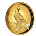 2 Unzen Gold Wedge Tailed Eagle 2016 High Relief PP