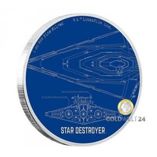1 Unze 2 NZD Star Wars Star Destroyer 2017