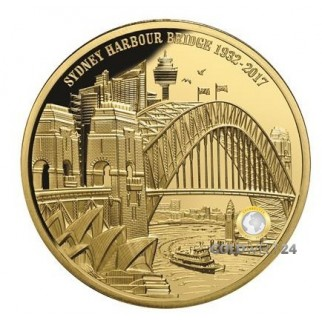 1 Unze Gold Sydney Harbour Bridge 2017 PP