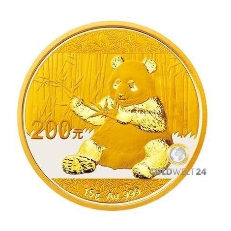 15g Gold China Panda 2017