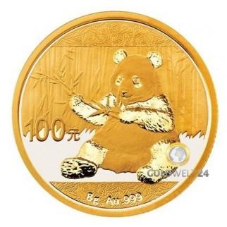 8g Gold China Panda 2017