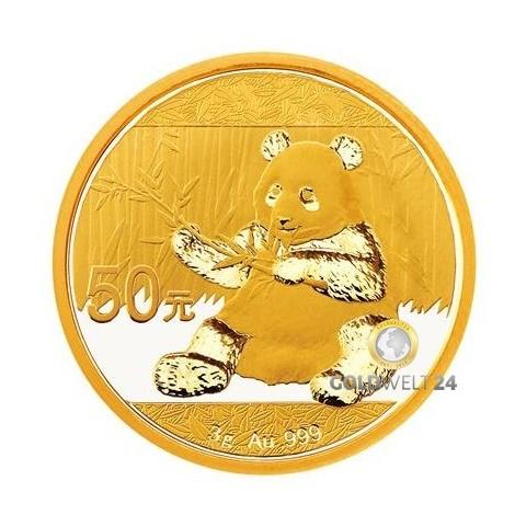 3g Gold China Panda 2017