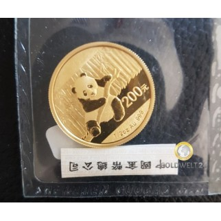 1/2 Unze Gold China Panda 2014