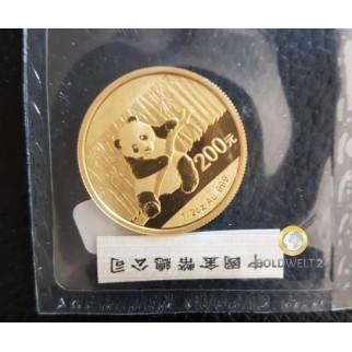 1/2 Unze Gold China Panda 2014