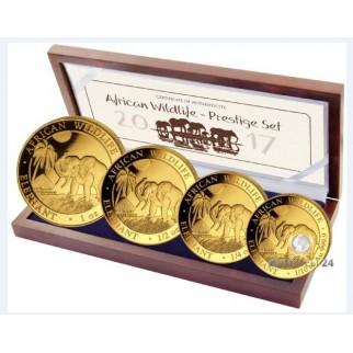 """Goldanlage Satz """"Wildtiere"""" 2016 (bestehend aus 5x 1/10 Unze Gold)"""
