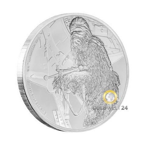 1 Unze 2 NZD Star Wars Chewbacca 2017