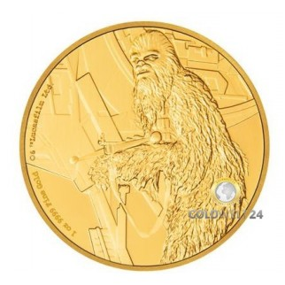1 Unze Gold Chewbacca 2017