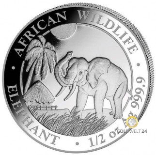 1/2 Unze Silber Somalia Elefant 2017