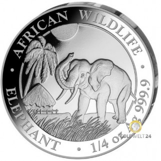 1/4 Unze Silber Somalia Elefant 2017