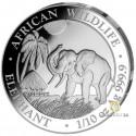1/10 Unze Silber Somalia Elefant 2017