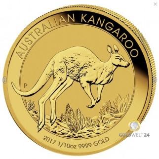 1/10 Unze Gold Känguru Nugget div.