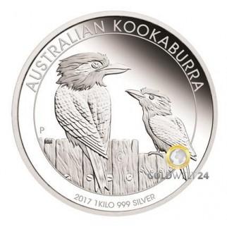 1kg Silber Kookaburra 2017 PP (inkl. Etui | Auflage: 300)