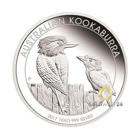 1kg Silber Kookaburra 2017 PP (inkl. Etui   Auflage: 300)