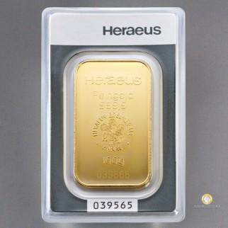 10*100g Goldbarren Heraeus