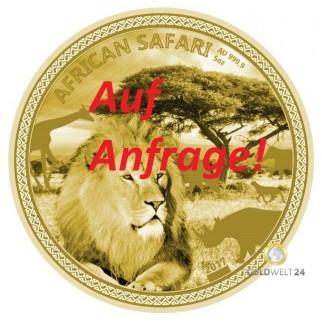5 Unzen Gold African Safari Löwe 2017 PP