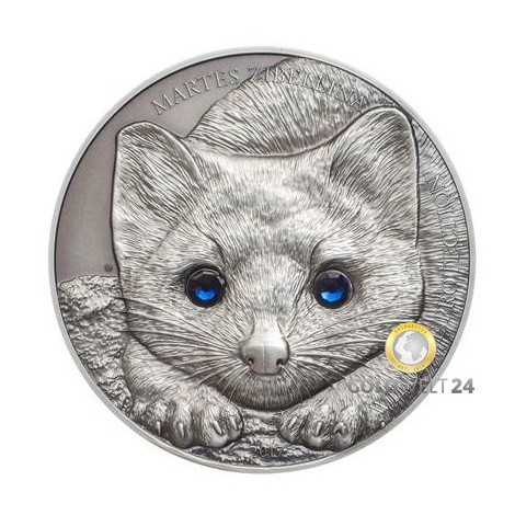 1 Unze Silber Zobel 2017